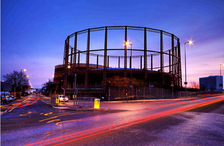 Southampton Gas Holder at night