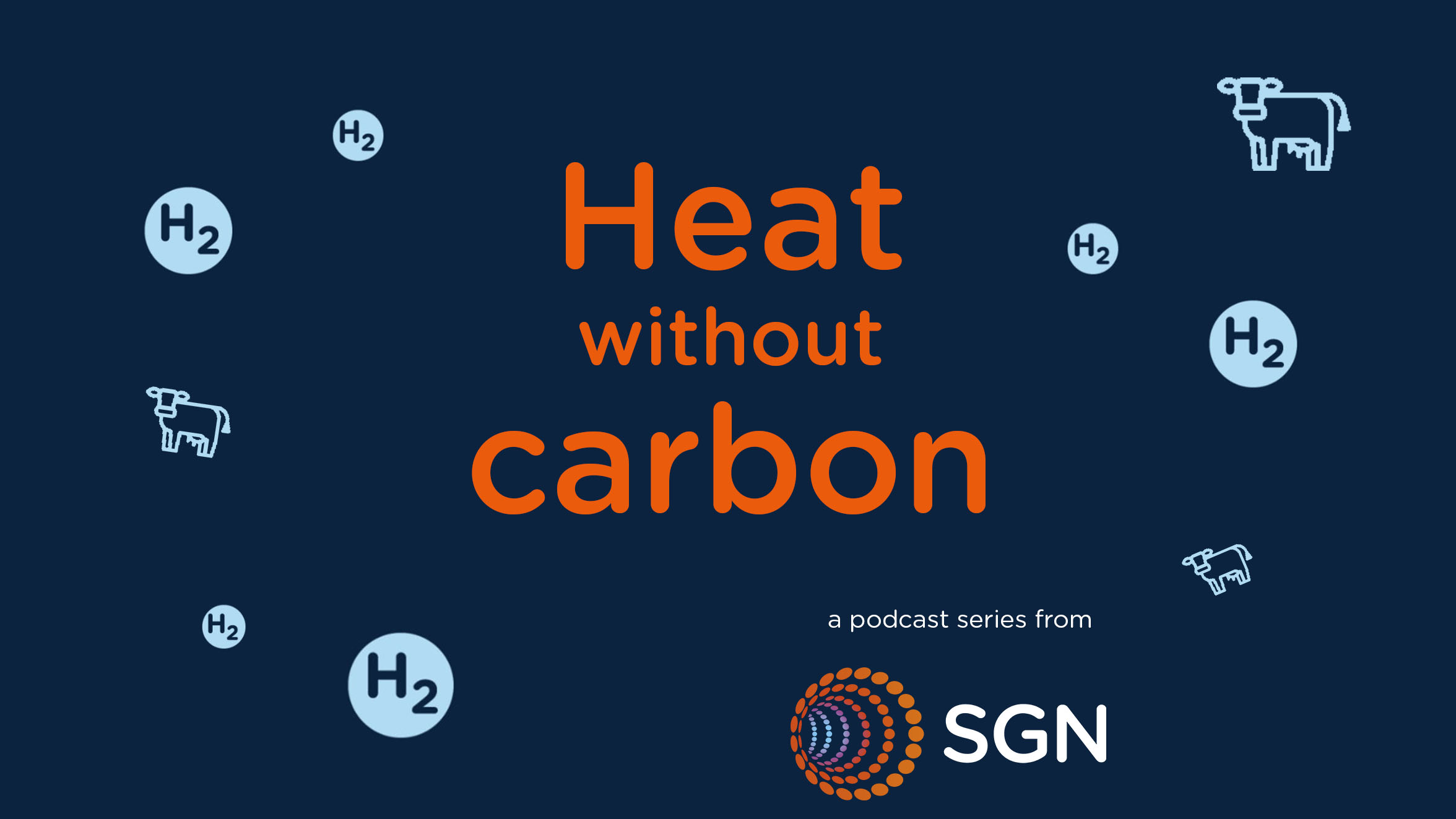 Logo for the Heat Without Carbon Podcast